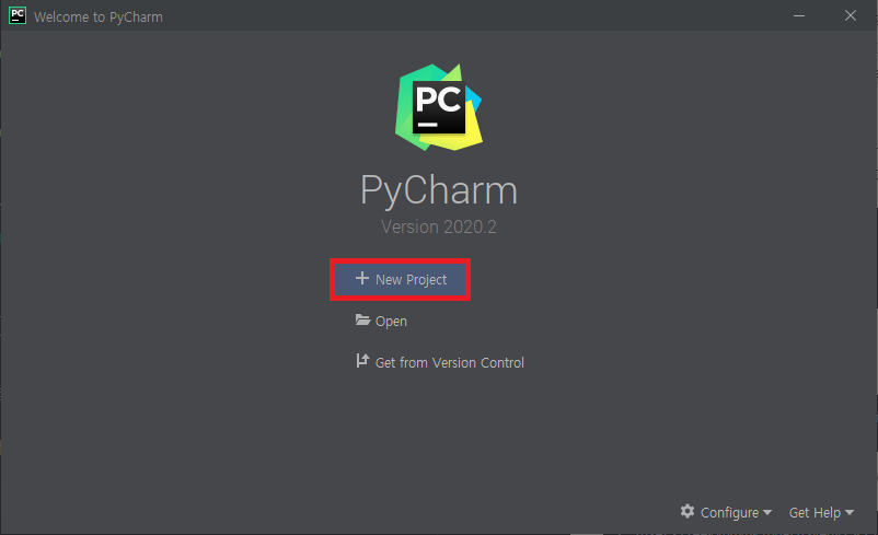 PyCharm - New Project