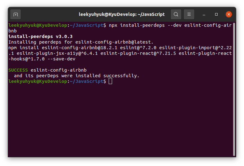 Install eslint-config-airbnb